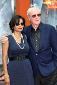 Shakira Caine and Michael Caine  at the Hand and Footprint Ceremony Honoring Michael Caine. Grauman'