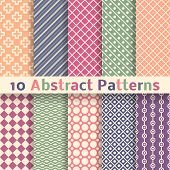 Retro abstract vector seamless patterns (tiling).