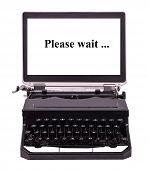 Futuristic typewriter