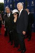 Neil Portnow with Yoko Ono and George Martin  at the Grammy Foundation's Starry Night Gala. Universi