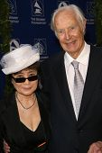 Yoko Ono and George Martin  at the Grammy Foundation's Starry Night Gala. University of Southern Cal