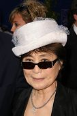 Yoko Ono  at the Grammy Foundation's Starry Night Gala. University of Southern California, Los Angel
