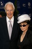 George Martin and Yoko Ono  at the Grammy Foundation's Starry Night Gala. University of Southern Cal