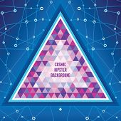 Cosmic Hipster Background - Abstract Geometric Structure. Vector illustration concept for music post