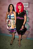 Lisa Edelstein and Tarina Tarantino  at the Pink Plastic Party of the Year celebrating the launch of