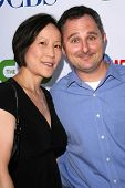 Andy Milder and wife Betty Lee  at the CBS, CW and Showtime Press Tour Stars Party, Boulevard3, Holl