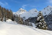 Mount Perrin In Winter, Ayas Valley (north Italy)