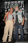 Cheech Marin and Tommy Chong  at a press conference to announce the