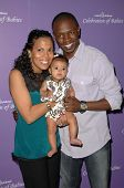 Aonika Laurent with Sean Patrick Thomas and their daughter Lola  at 'Celebration of Babies' luncheon to benefit March of Dimes. Beverly Hilton Hotel, Beverly Hills, CA. 09-27-08