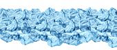 stock photo of frozen  - Ice cube border design with a group of solid frozen water cubes in a refreshing heap as a design element representing freshness and a cold frozen symbol keeping food fresh and cocktail drinks cool and chilled - JPG