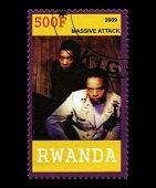 Massive Sattck Postage Stamp From Rwanda