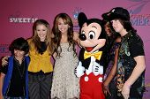 Miley Cyrus and Cast Members of Hannah Montana  at the Sweet 16 Celebration for Miley Cyrus. Disenyland, Anaheim, CA. 10-05-08