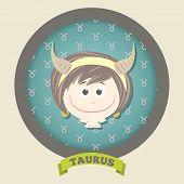 Zodiac signs collection. Cute horoscope - TAURUS.
