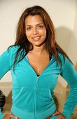 Vida Guerra  on the set of