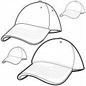 Conjunto de gorra de béisbol