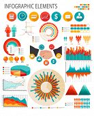 Business infographics flat template.