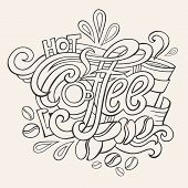 coffee hand lettering sketch