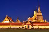 Wat Phra Kaew At Twilight, Temple Of The Emerald Buddha