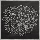 Sale Vector hand lettering On Chalkboard