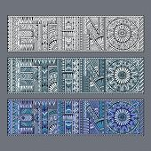 Abstract concept ethno pattern