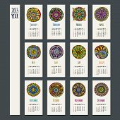 Ethnic calendar 2015 year design