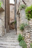 Narrow Street In Historical Town Gordes In France
