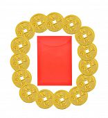 Chinese New Year Gold Coins Border