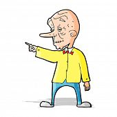 cartoon old man pointing