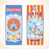 Vintage carnival banners vertical