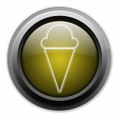 pic of ice cream parlor  - Icon Button Pictogram with Ice Cream symbol - JPG