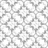 Pattern With White And Gray Layers