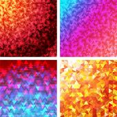 4 bright creative triangle patterns