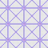 White Perforated Triangles With Purple Lines Tile Ornament