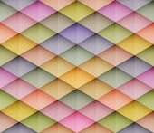Abstract colorful mosaic seamless vector background. Graphic pattern with rhombus elements. Vector s