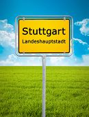 An image of the city sign of Stuttgart