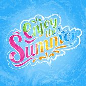 Enjoy the summer typography