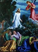 PARMA, ITALY - MAY 01, 2014: Agony in the garden, altar painting in the church of Saint Vitale. The