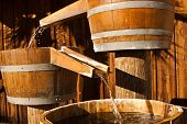 Wood Water Barrel Chutes