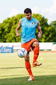 Sisaket Thailand-july 6: Victor Amaro Of Sisaket Fc. In Action During A Training Ahead Thai Premier