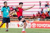 Sisaket Thailand-july 6: Park Jung-soo Of Chainat Hornbill Fc. In Action During A Training Ahead Tha