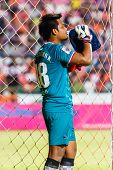 Sisaket Thailand-july 6: Kritsakorn Kerdpol Of Chainat Hornbill Fc. In Action During Thai Premier Le
