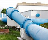 Pipes Of An Irrigation Water
