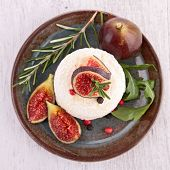 cheese and fresh fig