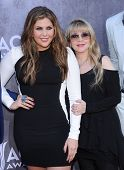 LOS ANGELES - APR 06:  Hilary Scott & Stevie Nicks arrives to the 49th Annual Academy of Country Mus
