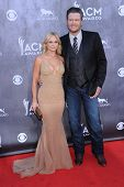 LOS ANGELES - APR 06:  Miranda Lambert & Blake Shelton arrives to the 49th Annual Academy of Country