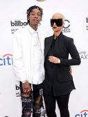 LAS VEGAS - MAY 18:  Wiz Khalifa & Amber Rose arrives to the Billboard Music Awards 2014  on May 18,