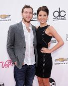 LAS VEGAS - MAY 18:  Phillip Phillips & Hannah Blackwell arrives to the Billboard Music Awards 2014
