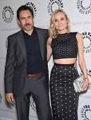 LOS ANGELES - JUN 24:  Demian Bichir &  Diane Kruger arrives to the The Bridge