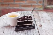 Hot Tea And Chocolate Cake 1