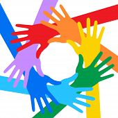 foto of peace-sign  - Rainbow Colors Hands Icon - JPG